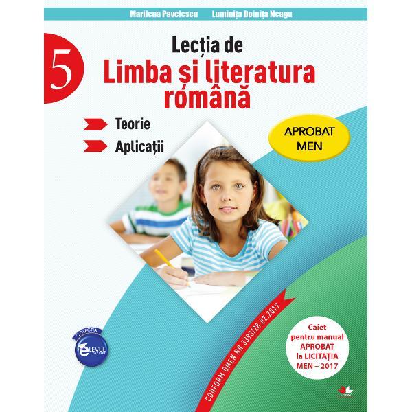 Lectia de limba si literatura romana Teorie Aplicatii clasa a V-a
