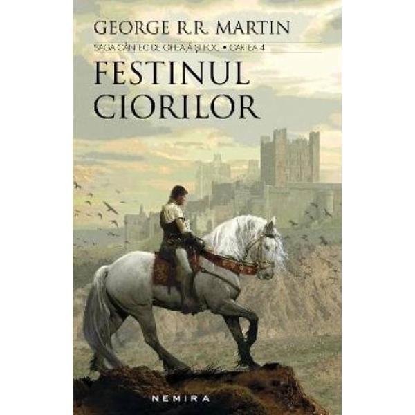"""""""George RR Martin este de departe cel mai bun autor de literatura fantasy Festinul ciorilor e cel mai fericit prilej sa il consideram un «Tolkien al Americii»"""" Lev Grossman Time   Dupa lupte grele si tradari fatale cele sapte puteri care isi disputau Westeros s-au nimicit una pe alta si au ajuns la un pact indoielnic Sau asa ar parea… Odata cu moartea monstruosului rege Joffrey regenta Cersei conduce din"""