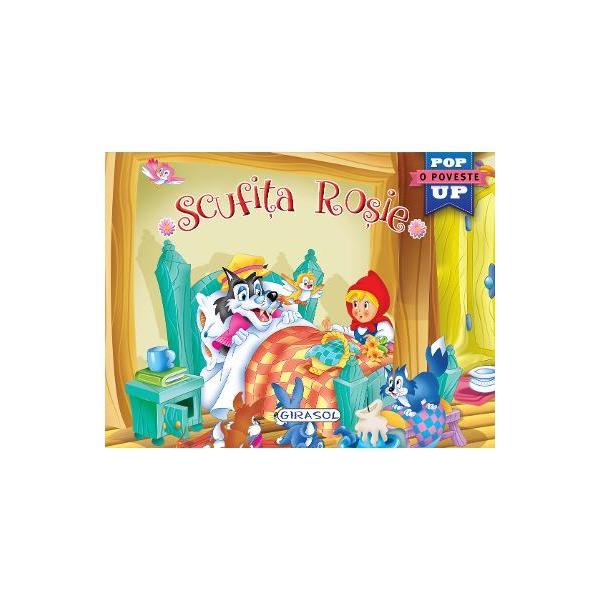 Pop-up-Scufita rosie
