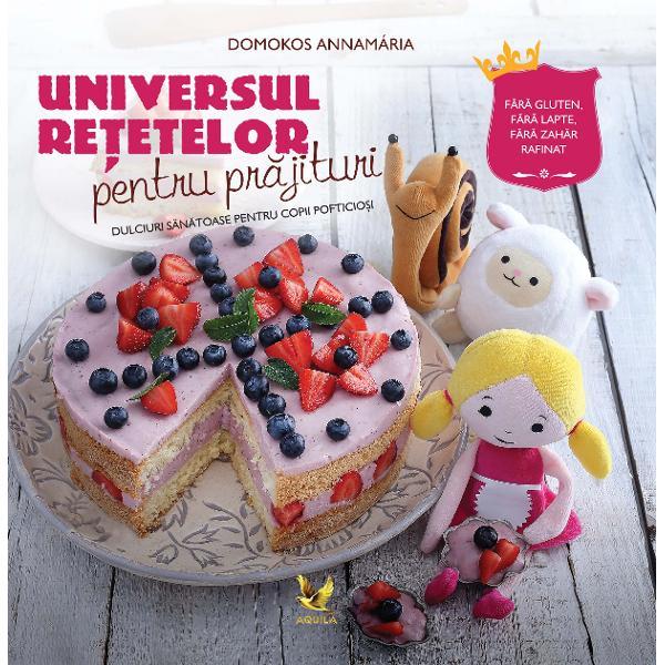 Cunoa&537;te&539;i vreun copil c&259;ruia s&259; nu-i plac&259; dulciurile În ultima vreme cunoa&537;tem din ce în ce mai mul&539;i copii care din pricina unor alergii sau intoleran&539;e alimentare nu se pot bucura de dulciurile &537;i de deserturile clasice Cartea aceasta este pentru ei Cuprinde 40 de re&539;ete de deserturi delicioase &537;i s&259;n&259;toase – torturi pr&259;jituri fursecuri biscui&539;i bomboane gemuri sosuri &537;i
