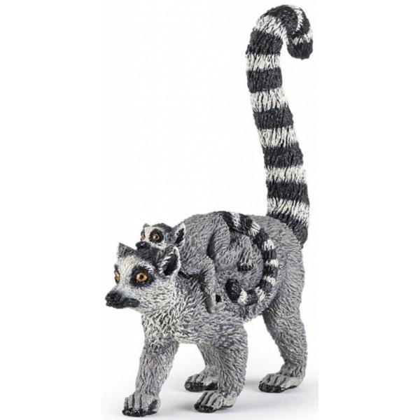 Lemur cu pui - Figurina PapoJucariaLemur cu puieste o figurina pictata manual care aduce produsul foarte aproape de realitate prin cele mai mici detalii realizate cu o acuratete inaltaFigurinaLemur cu puipoate fi o jucarie educationala pentru copii dar si o piesa de