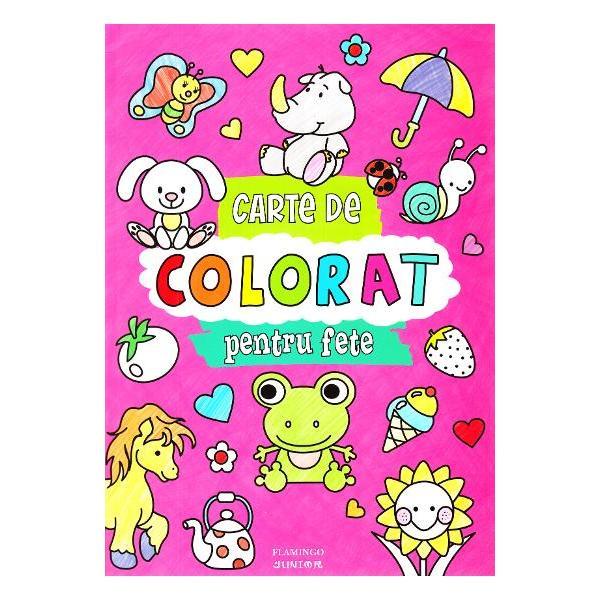 Cartea de colorat pentru fete ajuta la • dezvoltarea abilitatii manuale • stimuleaza imaginatia • imbogateste vocabularul identificarea obiectelor si invatarea culorilor • dezvolta concentrareaCartea contine 96 de pagini cu imagini simple de mari dimensiuni cu contur gros destinate micutilor incepatori intr-ale coloratului Pot colora cu creioane sau chiar cu pensula paginile fiind suficient de groase