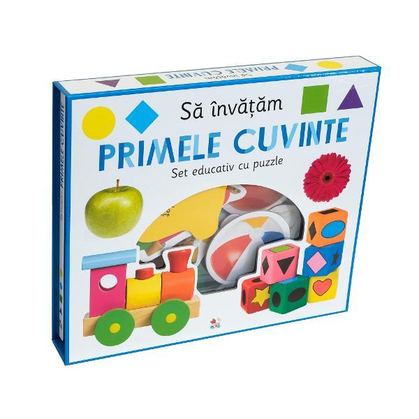 Sa invatam primele cuvinte Set educativ cu puzzle