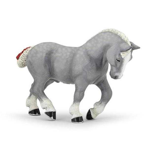 FigurinaCal Percheron gripoate fi o jucarie educationala pentru copii dar si o piesa de colectie pentru pasionatii fara varstaJucaria nu contine substante toxiceDimensiune  11x145x4 cmVarsta 3