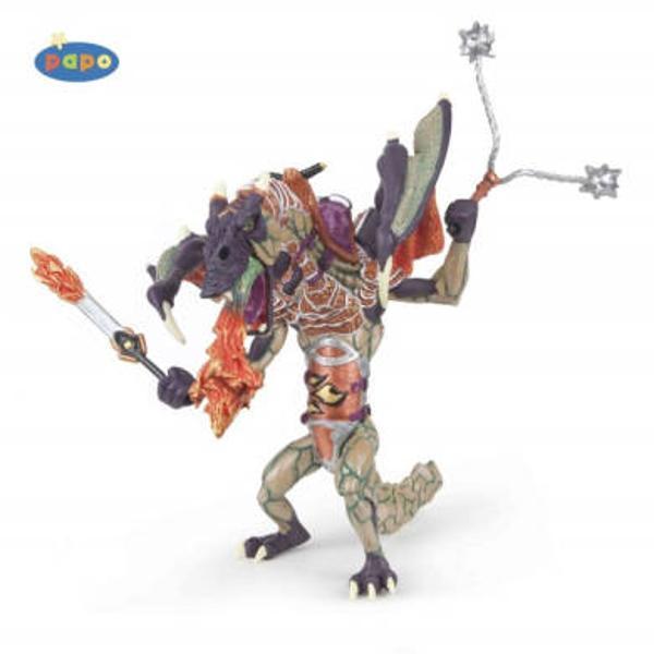 Figurina Papo-Dragonul razboiului dimensiuni 9 x 9 x 10 cm greutate 223grUn personaj absolut fantastic imaginativ nelipsit din luptele uluitoare ale unei lumi de basmUn excelent stimulent pentru a extinde imaginatia copiilor dezvoltand multe oportunitati de joacaNu contine substante toxiceVarsta 3 ani