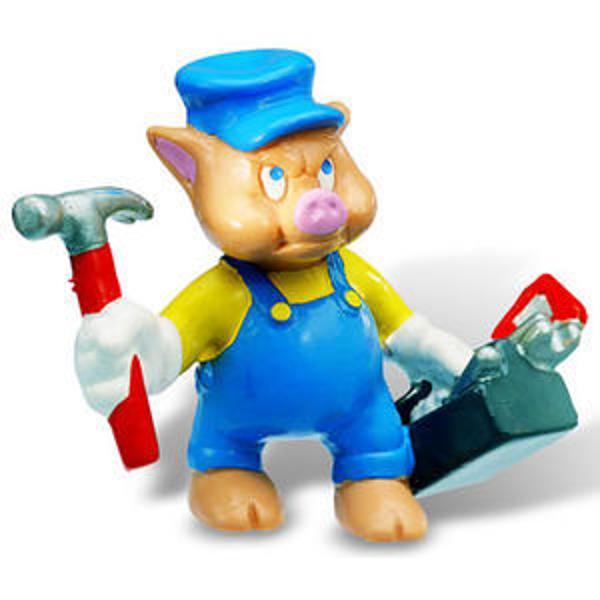 Figurina jucarie reprezentand personajul din desene animate Little Pigs     Detalii foarte asemanatoare cu cele reale    Figurina are