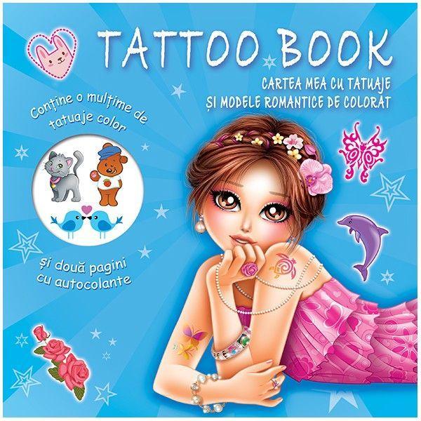 Tattoo Book Cartea mea cu tatuaje si modele romantice de colorat