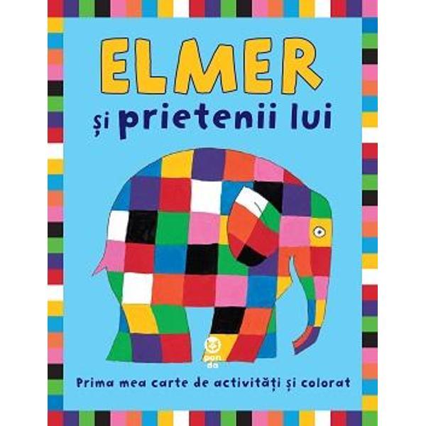 Prima mea carte de activit&259;&539;i &537;i coloratDescoperi&355;i o nou&259; poveste despre identitate curaj iubire &537;i prieteniePrietenii lui Elmer sunt de diferite culori – roz galben verde albastru mov portocaliu ro&537;u &537;i negruspan
