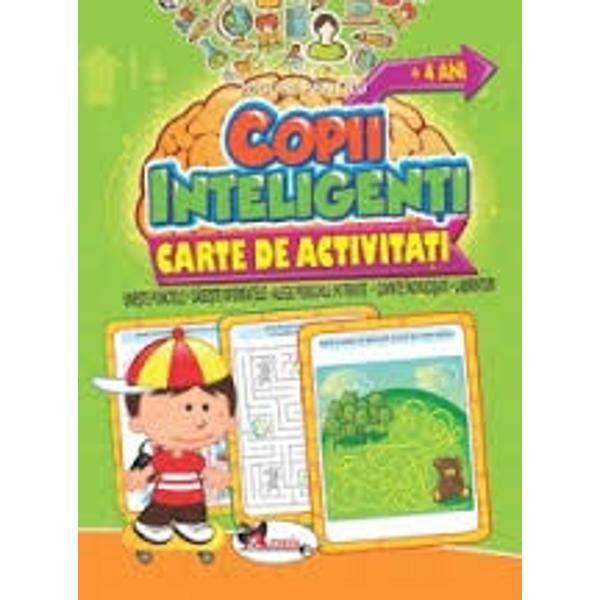 """Jocuri pentru copii inteligen&539;i – O serie de 5 c&259;r&539;i pe niveluri de dificultate de la 1 la 5 cu un bogat con&539;inut de activit&259;&539;i antrenante jocuri de tip une&537;te punctele g&259;se&537;te diferen&539;ele alege perechile potrivite cuvinte încruci&537;ate labirinturi &537;i multe altele Aceste """"b&259;t&259;i de cap"""" distractive vor captiva copiii &537;i le vor dezvolta abilit&259;&539;ile de"""