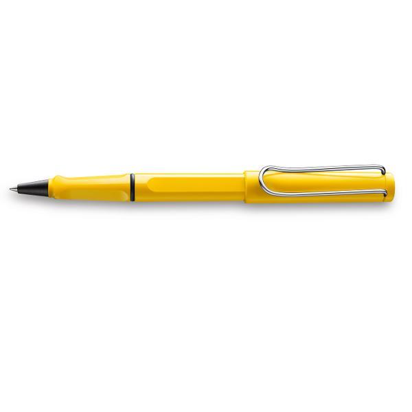 O multitudine de culori atractive design atemporal si ergonomie perfecta Acestea sunt doar cateva dintre motivele pentru care Lamy safari este unul dintre cele mai populare instrumente de scris din intreaga lumeDetalii roller Lamy safari- plastic rezistent finisaj shiny yellow- clip metalic- grip ergonomic-