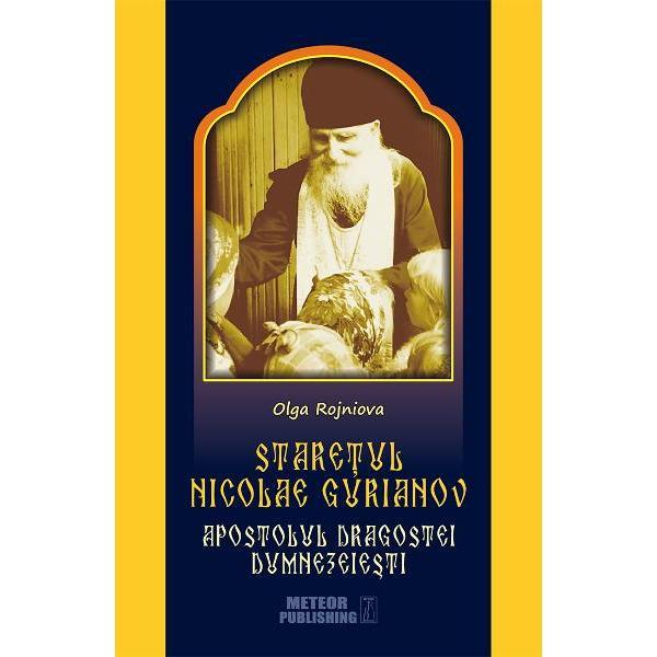Stare&539;ul Nicolae Gurianov a fost un dar nepre&539;uit pe care Domnul in marea Sa milostivire pentru tot sufletul urgisit l-a facut pamantului rus Personalitatea sa duhovniceasca a iradiat dincolo de hotarele Rusiei ortodoxe marcand vie&539;ile nenumara&539;ilor cre&537;tini – diferi&539;i ca na&539;ionalitate dar uni&539;i prin dragostea inflacarata fa&539;a de Iisus Hristos Fiul lui Dumnezeu S-a adeverit astfel – pentru a cata oara in istorie – adevarul