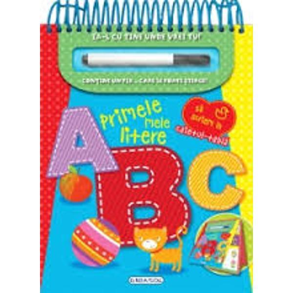 Acesta esteun caiet deosebit pentru cei mai mici elevi Copiii vor invata literelealfabetului si se vor distra folosind pixul special scriind si stergand ori de cate ori doresc