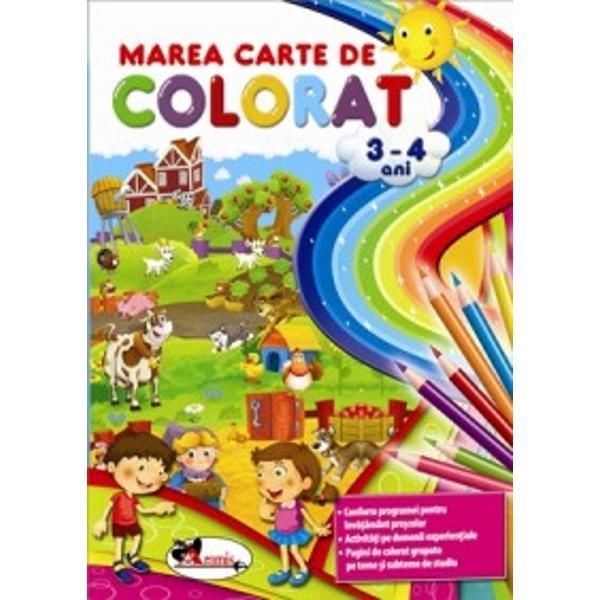 """Mai to&539;i p&259;rin&539;ii spun """"Ei ce poate fi mai u&537;or pentru copilul meu decât s&259; înve&539;e s&259; coloreze Câteva contururi câteva culori E simplu""""În realitate nu-i deloc a&537;a De pild&259; copilul de 3-4 ani nu &537;tie s&259; fac&259; diferen&539;a dintre o culoare &537;i alta Coordonarea mi&537;c&259;rilor"""