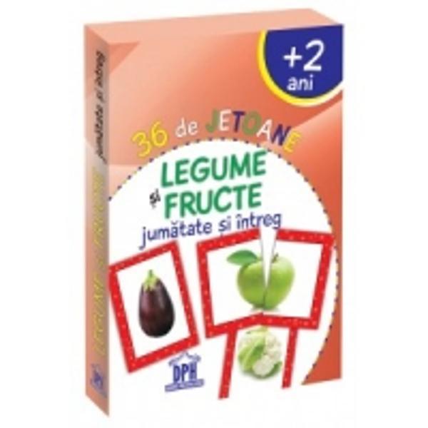 36 de jetoane - Legume si fructe - 2 ani