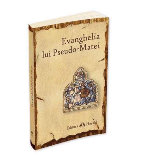 """Aceasta evanghelie mai este cunoscuta si ca """"Evanghelia copilariei dupa Matei"""" dar se pare ca titlul ei initial a fost """"Carte despre nasterea Fericitei Maria si copilaria Mantuitorului"""" Acum se numeste """"pseudo-evanghelie"""" intrucat cercetatorii sunt de acord in unanimitate asupra faptului ca autorul ei nu este evanghelistul cunoscut ca Matei Acest text repeta in primul rand relatarile anterioare cuprinse in """"Evanghelia Copilariei dupa"""