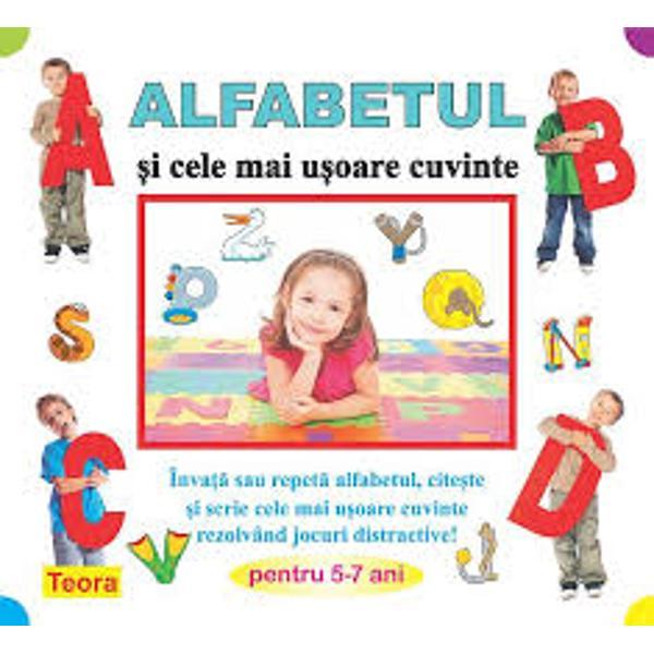Alfabetul si cele mai usoare cuvinteO metoda inedita pentru învatarea sau repetarea literelor alfabetului cu ajutorul unor jocuri-test îndragite de copiijocuri de coloratjocuri de sortare si de asocierepuzzleSUDOKUlabirintgaseste si elimina intrusuljocuri de