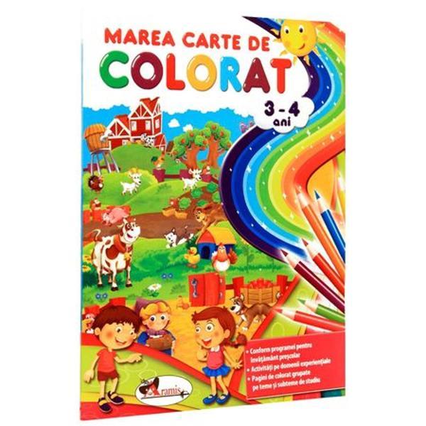 Marea carte de colorat 3-4 ani editia a III a