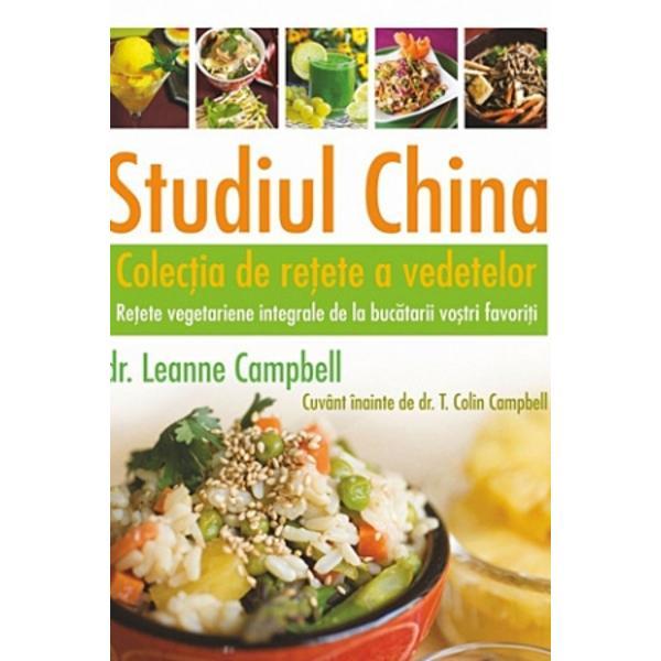 Cu participarea mae&351;trilor vo&351;tri gastronomi favori&355;i &351;i a autorilor vo&351;tri favori&355;i de c&259;r&355;i de bucate Studiul China – Colec&355;ia de re&355;ete a vedetelor include feluri de mâncare de la Lindsay S Nixon autoarea seriei de c&259;r&355;i Happy Herbivore; de la Del Sroufe autorul bestsellerului New York Times Furculi&355;e în loc de cu&355;ite – Carte de bucate; de la