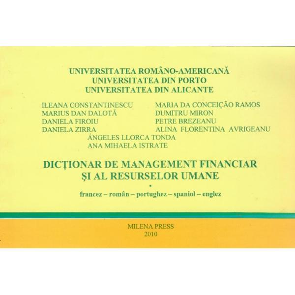 Dictionar de management financiar si al resurselor umane francez roman portughez spaniol englez