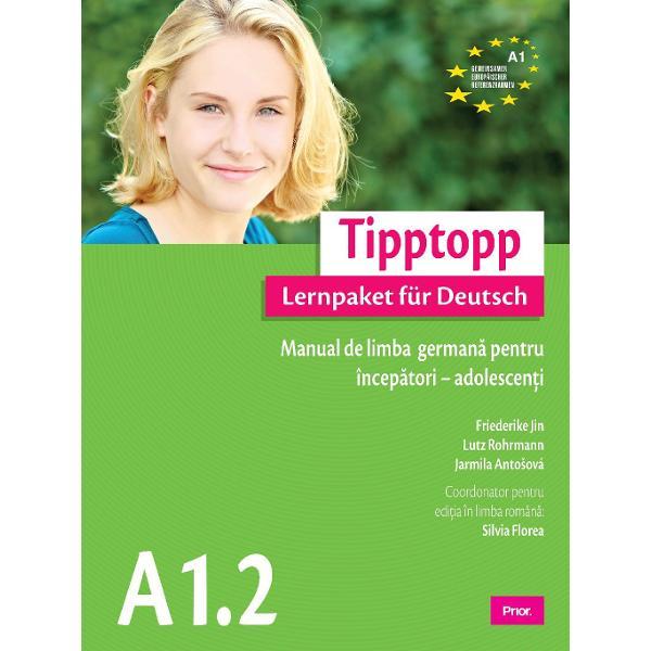 Tipptopp A 12 este al doilea pachet de invatare dintre cele sase ale seriei TipptoppLernpaket fur DeutschInvatand cu Tipptopp vei dispune de unica serie alcatuita din pachete complete de invatare Fiecare pachet cuprinde toate materialele necesare invatarii limbii germane pentru cate un nivel al CCER fiind constituit din trei partiA Cartea elevului cuprinzand sapte lectii