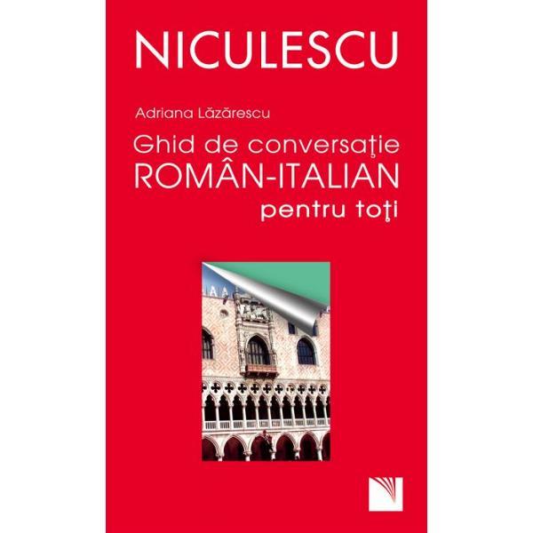 Cand vine vorba de italiana fiecare dintre noi romanii vom fi mai mereu tentati sa spunem c-o stim Adevarul e ca dintre limbile straine e cea pe care o intelegem cel mai bine si inca cei mai multi dintre noi italiana fiindu-i romanei cu siguranta cea mai apropiata sora latina Si cum dupa 1989 cel putin tot mai multi conationali au luat drumul Italiei - in excursie cu afaceri sau pur si simplu in cautarea unui loc de munca - Ghidul de conversatie roman-italian nu s-ar arata