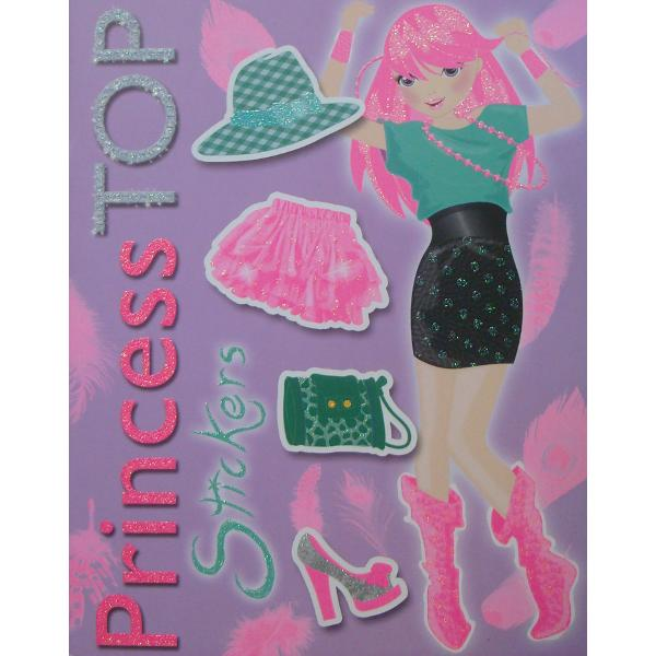 Princess Top - Stickers violet