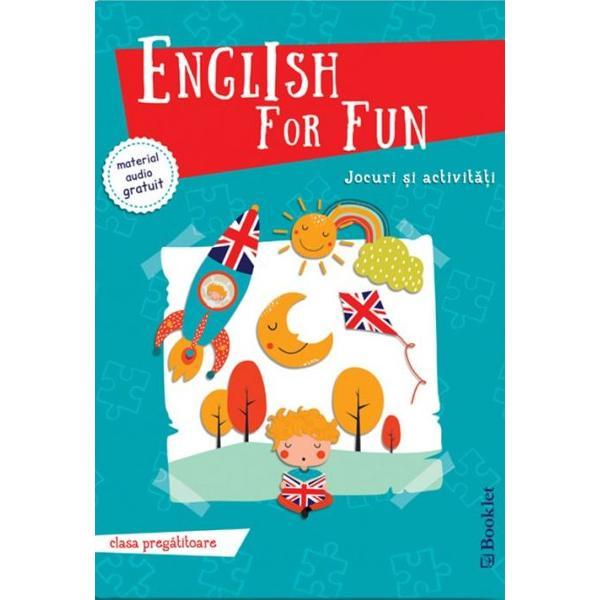 Cum înv&259;&539;&259;m cel mai bine Jucându-neEnglish for fun pentru clasa preg&259;titoare ofer&259; elevilor la început de drum o modalitate captivant&259; de înv&259;&539;are a limbii engleze – prin jocuri &537;i activit&259;&539;i interactive adecvate vârstei intereselor &537;i nivelului de limb&259; ale celor miciPlin&259; de idei pentru copii p&259;rin&539;i &537;i profesori cartea exploreaz&259; într-o