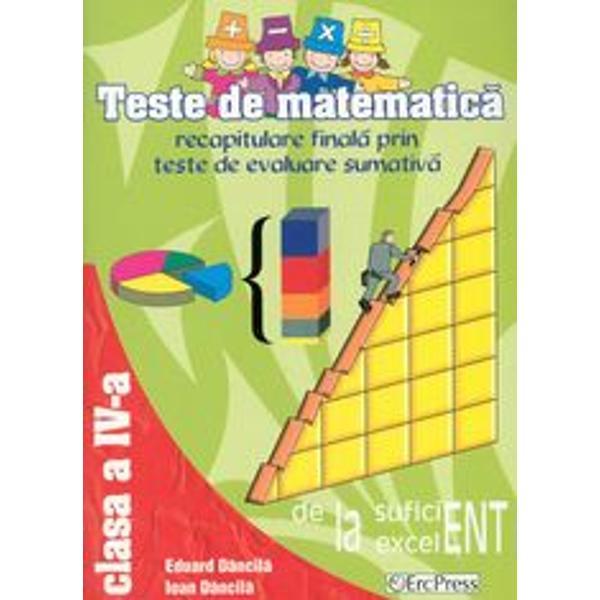 Teste matematica pentru clasa a IVa