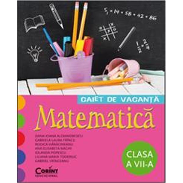 Acest caiet de vacan&355;&259; destinat elevilor din clasa a VII-a este conceput de un colectiv de cadre didactice cu o bogat&259; experien&355;&259; la catedr&259; pentru a le oferi atât elevilor cât &351;i profesorilor un instrument de lucru util o form&259; de preg&259;tire continu&259; &351;i o modalitate diferit&259; de petrecere a timpului liberp stylecolor 2c2b2b; padding-top 6px;