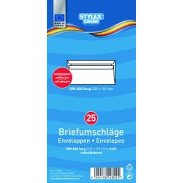 Set 25 plicuri albe DL Format 110x220mmAmbalaj punga din plastic Produs de Toppoint-Germania