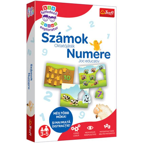 Setul este un joc de puzzle educa&539;ional pentru cei mici deoarece le permite celor mici s&259; cunoasc&259; lumea numerelor în timp ce se distreaz&259; În timpul jocului copilul înva&539;&259; numerele &537;i practic&259; num&259;rarea pân&259; la zece Acesta este primul pas important în st&259;pânirea opera&539;iilor matematice Seria de jocuri Little Explorer este o colec&539;ie de juc&259;rii educa&539;ionale pentru copii cu