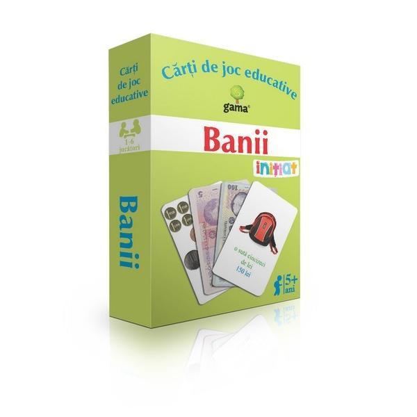 Pachetul con&539;ine ·10c&259;r&539;i de joc cu obiecte de diferite valori; ·40de c&259;r&539;i de joc cu bani ambele fe&539;e ale bancnotelor Cu ajutorul jocurilor propuse copiii vor înv&259;&539;a cu u&537;urin&539;&259; care sunt banii române&537;ti afla&539;i în circula&539;ie ce valoare au lucrurile pe care le cump&259;r&259;m cum s&259; calculeze suma