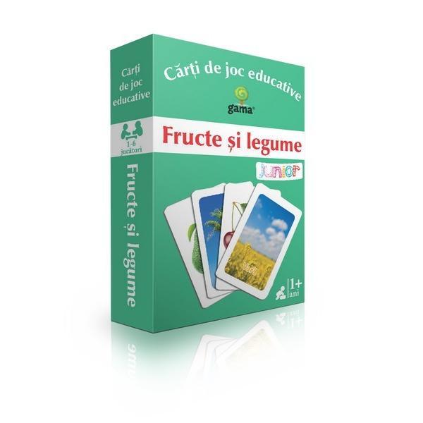 C&259;r&539;ile de joc sunt grupate în patru categorii pe care copilul trebuie s&259; le identificeFructe &537;i legume de prim&259;var&259;Fructe &537;i legume de var&259;Fructe &537;i legume de toamn&259;Fructe exotice Pentru fiecare categorie exist&259;12 c&259;r&539;i de joc · una reprezint&259; categoria; · celelalte11