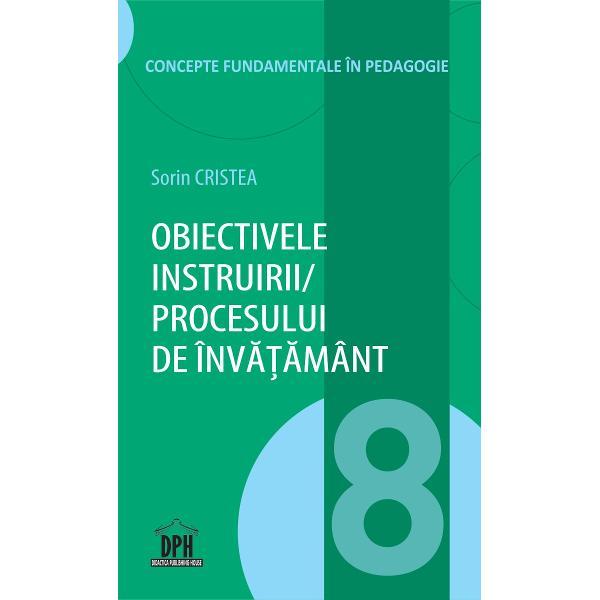 În primul capitol sunt definite obiectivele instruiriiprocesului de înv&259;&355;&259;mânt la nivelul unui concept pedagogic fundamental &537;i se analizeaz&259;obiectivele instruirii din perspectiva realit&259;&355;ii pedagogice În capitolul 2 se eviden&355;iaz&259; necesitatea clasific&259;rii obiectivele instruiriiprocesului de înv&259;&355;&259;mânt pe criterii riguroase la nivel de taxonomii pedagogice