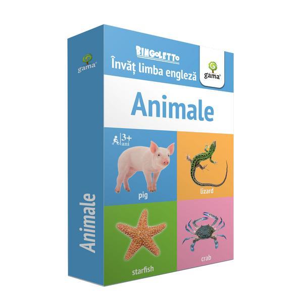 Bingoletto Animale reprezint&259; un sistem inedit de a înv&259;&539;a limba englez&259; inspirat de popularul joc de bingo Cu ajutorul acestei metode copilul va înv&259;&539;a cu u&537;urin&539;&259; denumirile unor vie&539;uitoare îmbog&259;&539;indu-&537;i astfel vocabularulPachetul con&539;ine• 56 de carduri cu control al pozi&539;iei Fiecare card con&539;ine pe o fa&539;&259; imaginea iar pe verso
