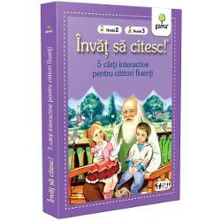 Pachetul Înv&259;&539; s&259; citesc - 5 c&259;r&539;i interactive pentru cititori fluen&539;ieste destinat copiilor care au f&259;cut deja progrese în citit &537;i reu&537;esc c&259; termine singuri o poveste În interior ve&539;i g&259;si 4 c&259;r&539;i de nivelul 2 – texte clasice din literatura român&259; scrise cu caractere mari u&537;or lizibile