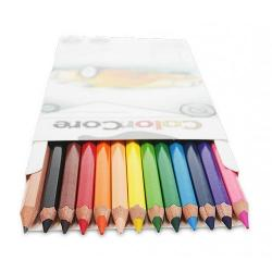 Creioane colorateSet 12 culoriDiametru grif 40mm Setul mai este completat cu creion grafit cu duritatea HB si diametrul 22mmNu sunt recomandate copiilorcu virsta sub 3 ani