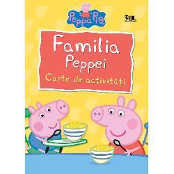 Copiii se vor distra grozav cu jocurile plan&351;ele de colorat &351;i activit&259;&355;ile propuse de Peppa &351;i familia ei