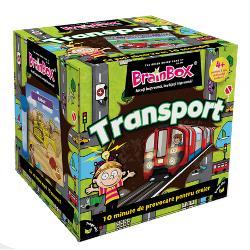 Joc educativ BrainBox TransportOricum va place sa va deplasati cu masina sau cu avionu acest BrainBox este pentru dumneavoastra De la o camila la o canoe la un planor la un kart la un flotor de lapte la un monster acest genial BrainBox calatoreste pe uscat aer si mare pentru o distractie fantastica in familie Totata lumea la bordDaca esti cel mai tanar jucator tragi un cartonas din cutie si intorci clepsidra Studiezi imaginea si informatiile de pe