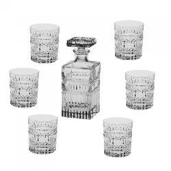Set 6 pahare si sticla pentru Whisky model Diana Fabricate din cel mai fin Cristal de Bohemia Volum pahar cca 320 ml Volum sticla 700ml Continut plumb minim 24 PbO