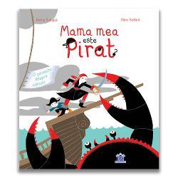 """Cartea """"Mama mea este pirat"""" – ap&259;rut&259; în 8 &539;&259;ri &537;i apreciat&259; la nivel mondial prezint&259; o poveste despre o mam&259; care este bolnav&259; de cancer Aceast&259; carte se adreseaz&259; copiilor cu vârsta peste 4 ani &537;i le arat&259; o poveste de via&539;&259; prezentat&259; frumos de c&259;tre p&259;rin&539;i Dac&259; e&351;ti p&259;rinte cu siguran&355;&259; te gânde&351;ti"""