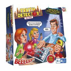 Crezi c&259; &537;tii totul despre prietenii &537;i familia ta Pune&539;i-le la încercare cu Detectorul de Adev&259;rSelecta&539;i o întrebare din card &537;i alege&539;i pe cineva pentru a interogaUrm&259;ri&539;i-le transpira&539;ia în timp ce î&537;i pun degetele pe detectorCu peste 500 de întreb&259;ri pentru a alege va exista întotdeauna o întrebare cu care s&259; le