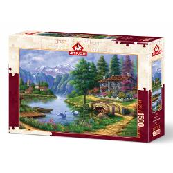 Puzzle 1500 p. Village By Lake AP5371