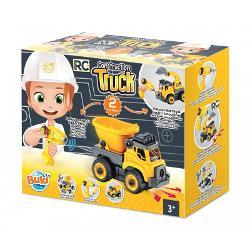 Set constructie camion autobasculanta si excavator cu radiocomanda BK9020 imagine librarie clb