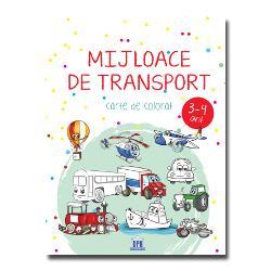 Mijloace de transport – carte de colorat îi va încânta pe copii &537;i îi va face s&259;-&537;i dea frâu liber imagina&539;iei &537;i laturii artistice Se adreseaz&259; copiilor cu vârstele cuprinse între 3 &537;i 4 aniColorând aceast&259; carte plin&259; cu mijloace de transport copiii se vor relaxa &537;i î&537;i vor dezvolta creativitatea &537;i concentrareaDesenele îi încurajeaz&259;