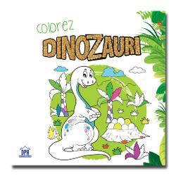 Copiii se pot relaxa &537;i î&537;i pot da frâu liber imagina&539;iei &537;i laturii artistice colorând aceast&259; carte plin&259; cu dinozauriCartea de colorat Colorez dinozauri este destinat&259; tuturor copiilor cu vârsta peste 3 aniCopiii vor fi entuziasma&539;i s&259; descopere în paginile acesteia imagini cu animalul lor preferat în diferite ipostazeDesenele îi încurajeaz&259; pe copii