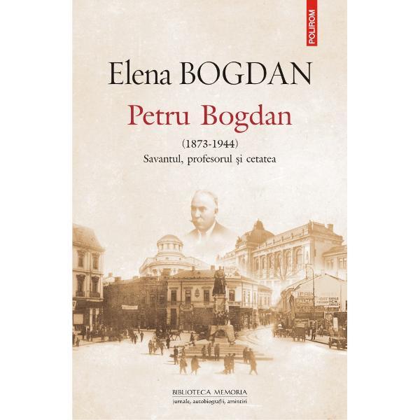 """Cartea Elenei Bogdan despre tat&259;l ei profesorul Petru Bogdan scris&259; între 1972 &537;i 1974 a r&259;mas în manuscris aidoma multor pagini diaristice Cunoa&537;te acum aceast&259; întîrziat&259; apari&539;ie postum&259; la peste patru decenii de la redactarea ei &537;i la aproape dou&259; decenii de la stingerea din via&539;&259; a autoarei""""Aceast&259; carte prezint&259; povestea adev&259;rat&259; a unui mare"""