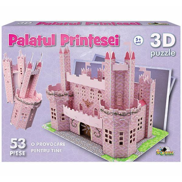 Construieste-ti visul piesa cu piesa Visul tau incepe cu o replica fidela a palatului in care vei locui cand vei deveni printesaO structurezi in orice configuratie doresti pentru ca are corpuri si piese simetrice pe care le poti imbina in mai multe moduriO decorezi cu elemente arhitectonice delicate o fantana creneluri stegulete si alteleContinut53 de piese de puzzle din