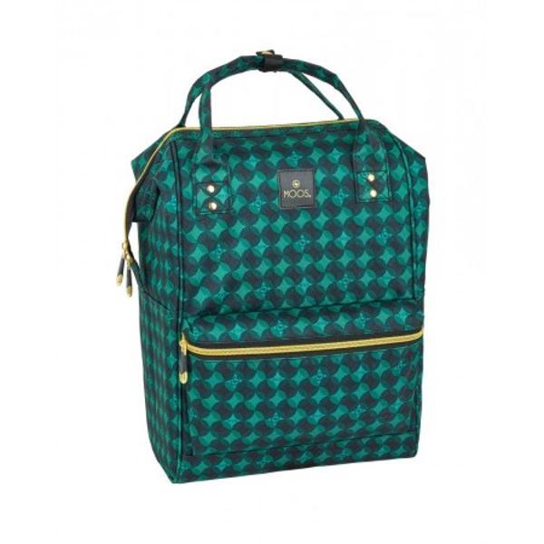 Rucsac fashion laptop Moos Verde&160;40cm o alegere inspirata pentru un rucsac fashion compatibil cu un laptop de 13&160;