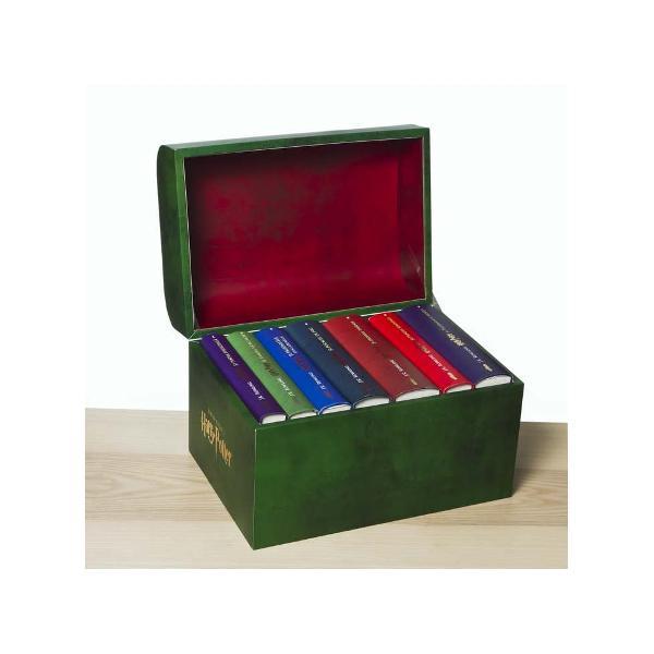 Pachetul cuprinde volumele I-VII din seria Harry Potter &537;i un cuf&259;r pentru colec&539;ionariHarry Potter &537;i piatra filosofal&259; 1 - traducere din englez&259; de Florin BicanHarry Potter &537;i camera secretelor 2 - traducere din englez&259; de Tatiana DragomirHarry Potter &537;i prizonierul din Azkaban 3 - traducere din englez&259; de Radu ParaschivescuHarry Potter &537;i Pocalul de Foc 4 - traducere din englez&259; de Florin